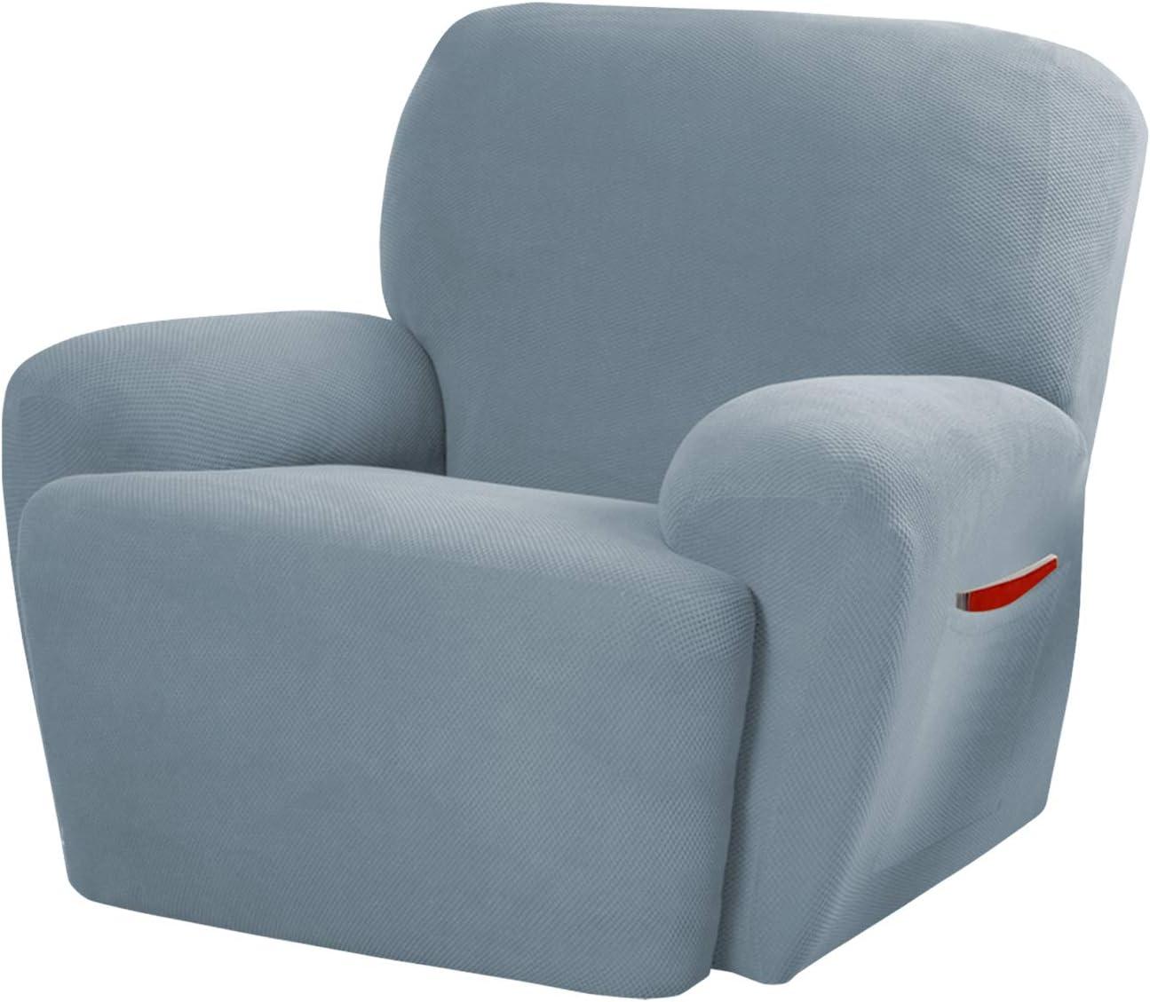 MAYTEX Pixel, Recliner, Steel Blue Chair Slipcover