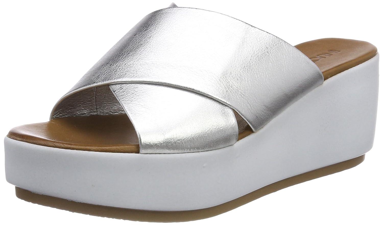 Inuovo Damen 8696 Zehentrenner  40 EU|Silber (Silver)