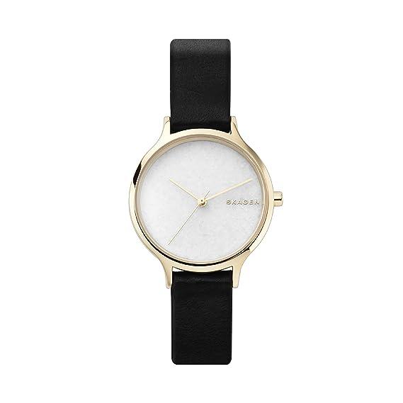 Skagen Reloj Analogico para Mujer de Cuarzo con Correa en Cuero SKW2671: Amazon.es: Relojes