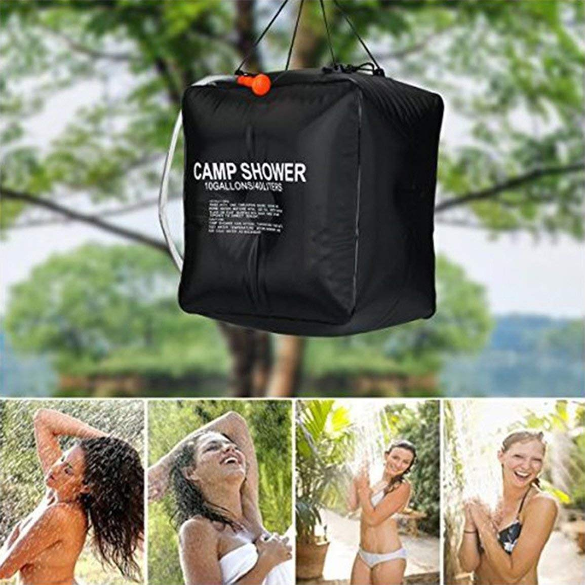 40 L, Agua Caliente, 45 /°C Bolsa de Ducha con calefacci/ón Solar Fantasyworld