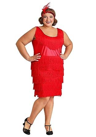 Amazon.com: Red Plus Size Flapper Dress: Clothing