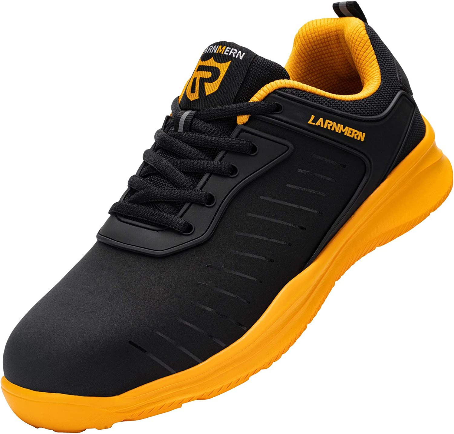 LARNMERN Steel Toe Shoes Men Puncture Proof Lightweight Construction Sneakers