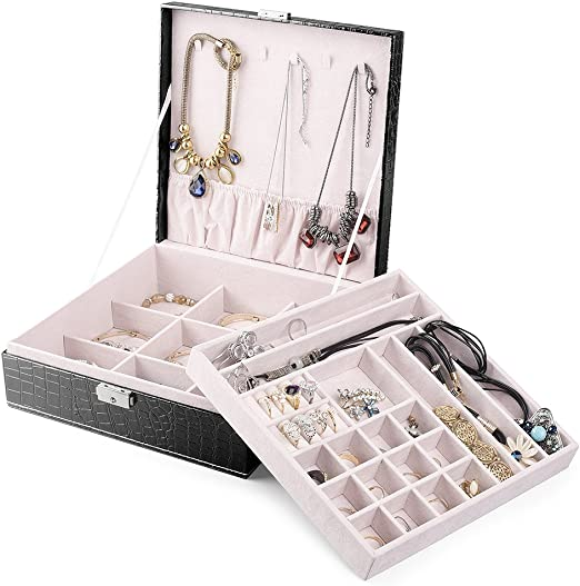 HOUSE DAY Cajas de joyería para Mujeres Organizador de Caja de ...