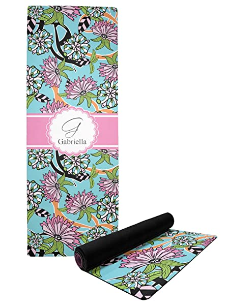 Amazon.com: YouCustomizeIt Summer Flowers Yoga Mat ...