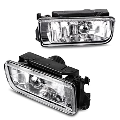 AUTOSAVER88 Fog Lights Compatible with 1992 1993 1994 1995 1996 1997 1998 BMW E36 / M3 3 Series (Clear Glass Lens w/Bulbs): Automotive