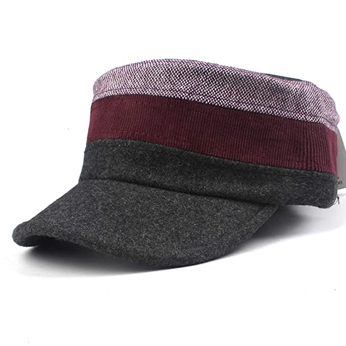 HEWPASKE Wool Military Hats for Women Men Winter Newsboy Hat Gorras Planas Snapback Caps Female Octagonal