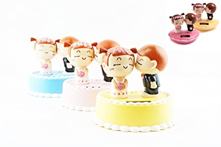 Mstechcorp, Muti-Set Solar Toy Kissing Groom and Bride on a Cake for Home Decor Wedding Party Gift USA SELLER 5, Full Team