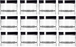 Amazon Giveaway 4 oz Clear Straight sided Plastic Jar...