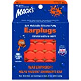 Mack's Soft Moldable Silicone Putty Ear Plugs – Kids Size, 15 Pair – Comfortable Small Earplugs for Swimming, Bathing, Travel