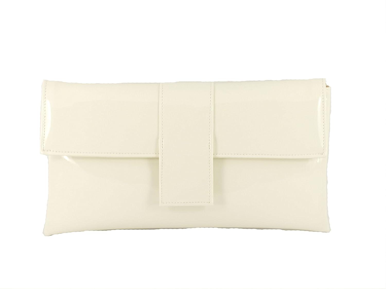 LONI elegante Faux Lackleder Clutch Anlass Hochzeit Partei Prom Tasche Schulter Elegant Patent-Dark Navy