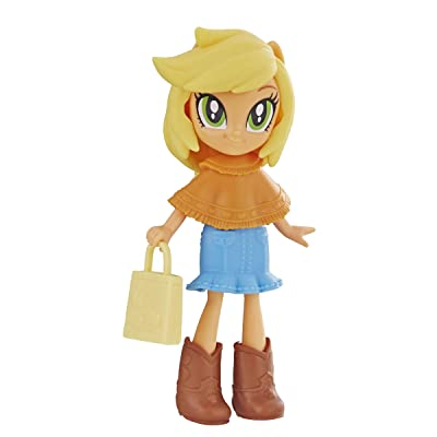My Little Pony Equestria Girls Fashion Squad Applejack 3-inch Mini Doll with Removable Outfit, Boots, and Accessory, for Girls 5+: Toys & Games