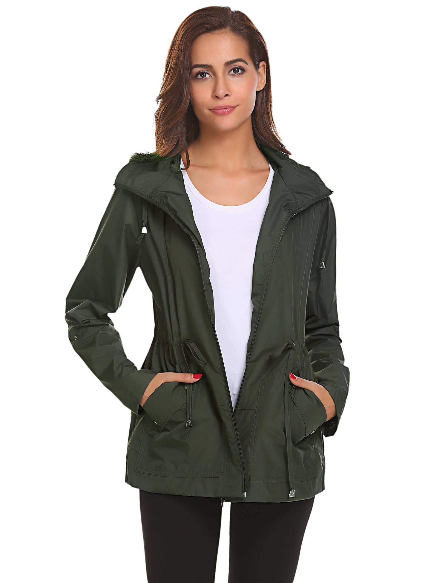 274ccda4f Romanstii Outdoor Active Rain Jacket Women Waterproof Lightweight Hood  Raincoat - Ultimate Fashion Trends for Girls | Fashion's Girl