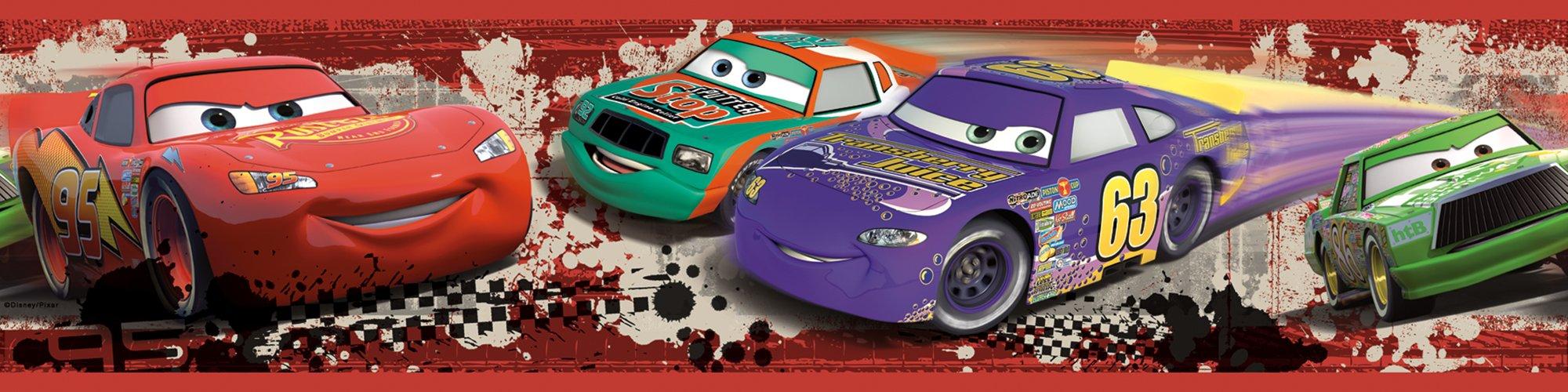 RoomMates Disney Pixar Cars Piston Cup Racing Peel and Stick Border