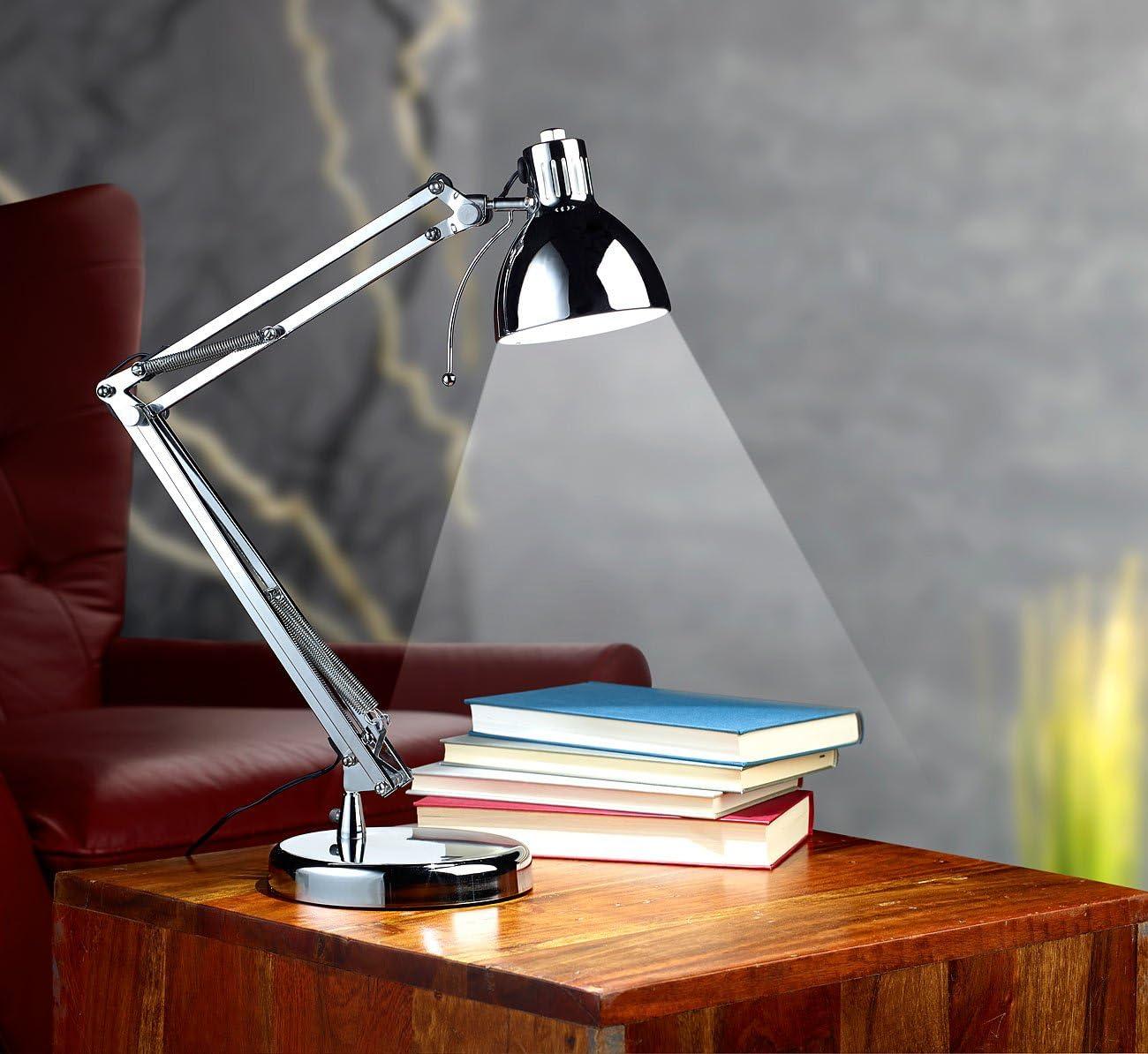 Lampada Da Tavolo Scrivania Silver Argento Stile Retro Retro A Led Da 3 Watt Amazon It Illuminazione