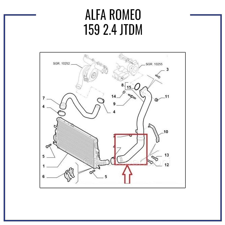 A L F A R O M E O 159 2.4 JTDM Manguito Intercooler Tubo de aire 60693772