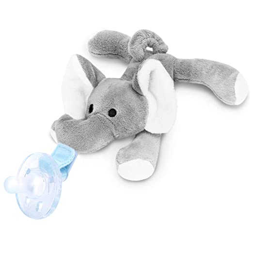 Soft Plush Toy for Binky Animal Replcement Baby Detachable Stuffed Animal for Pacifier Holder Duck Animal Without Pacifier