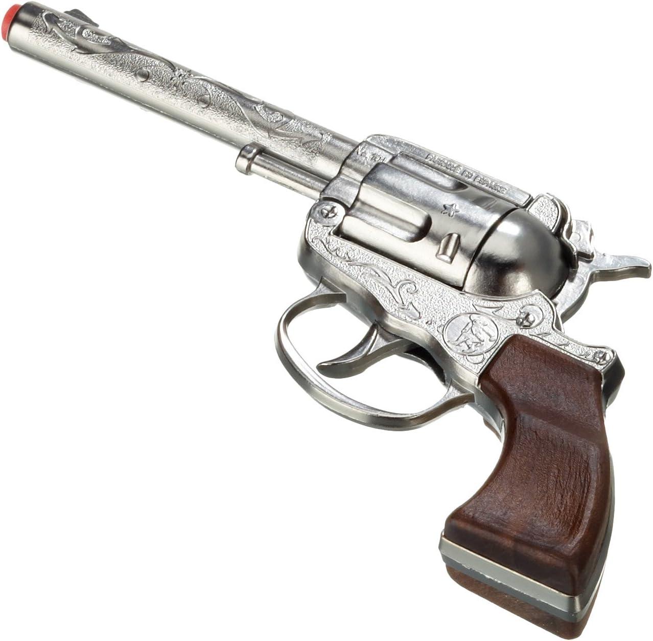 Gonher- Revolver 100 Tiros - Plata, Multicolor (101/0)