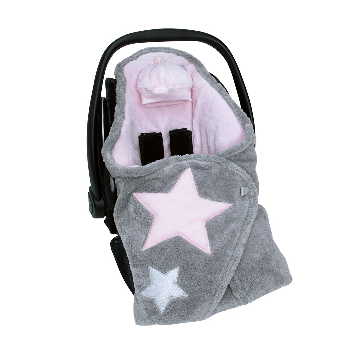 Bemini by Baby Boum 392STARY54SF Decke Biside Softy Stary Cristal rosa 90 x 90 cm