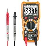 Multimètre Numérique Janisa PM18C AC DC Détecteur de Tension Voltmètre Ohmmètre Ampèremètre pour Digital Portable Automatique sonde de Température Maintien avec Rétroéclairage Ecran LCD