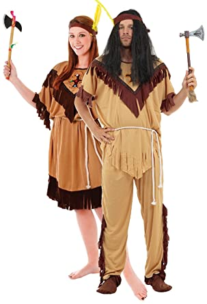 6edaa874940 Couples Native American Indian Wild West Cowboy Halloween Carnival ...