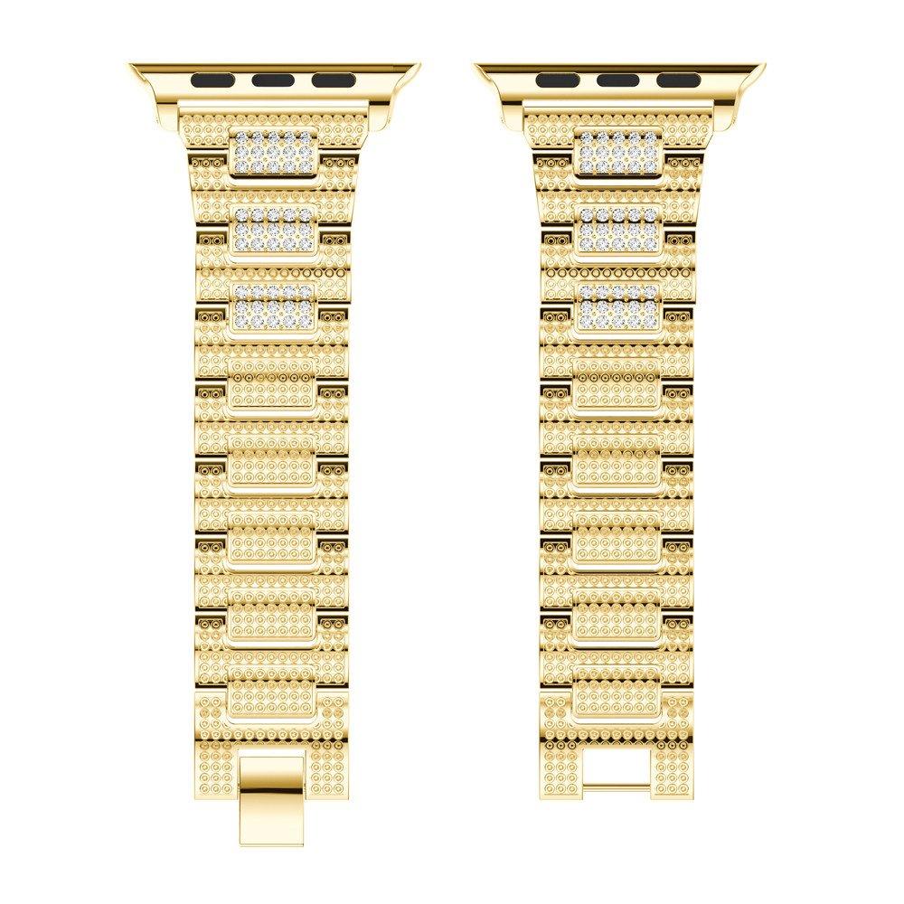 dreamyth高級合金クリスタル時計バンド手首ストラップフルドリルスチールベルトfor Apple Watchシリーズ3 42 mm ゴールド ゴールド B075R4MQKK