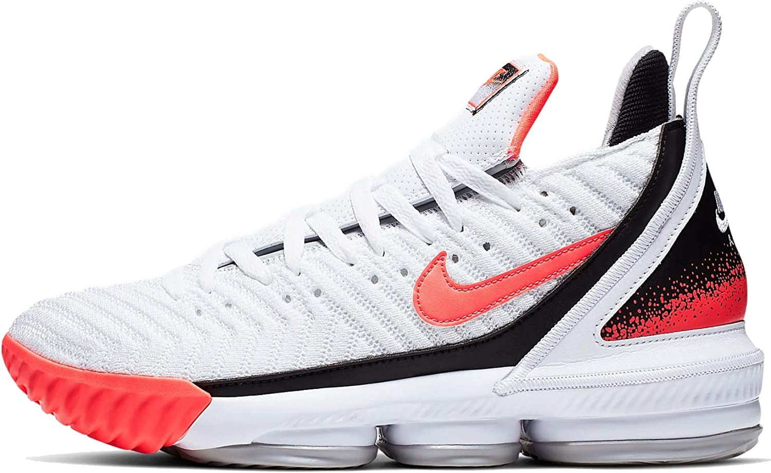 Nike Lebron XVI Shoes 白い/Flat 銀/Hot Lava CI1521-100 Size 14