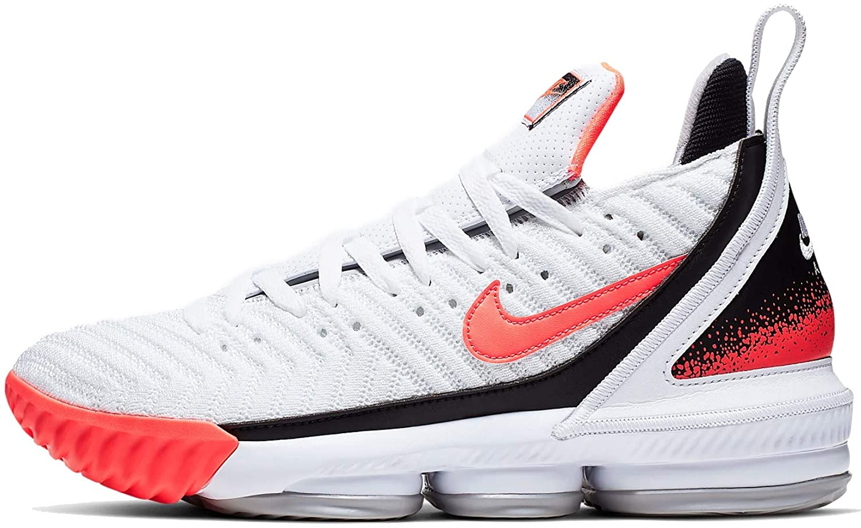 Nike Lebron XVI Shoes 白い/Flat 銀/Hot Lava CI1521-100 Size 9