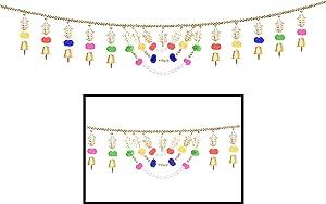 Amba Handicraft Toran/Door Hanging Toran/Window Valance/Dream Catcher/Home Décor Interior/Pooja bandanwaar/Diwali Gift/Indian Handicraft/Toran for Door Indian/Diwali Toran TN271