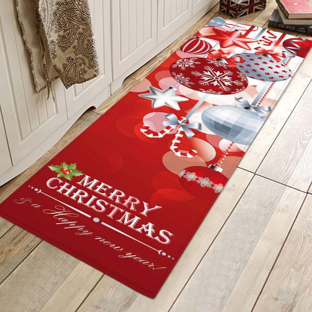 Un tappeto natalizio in cucina