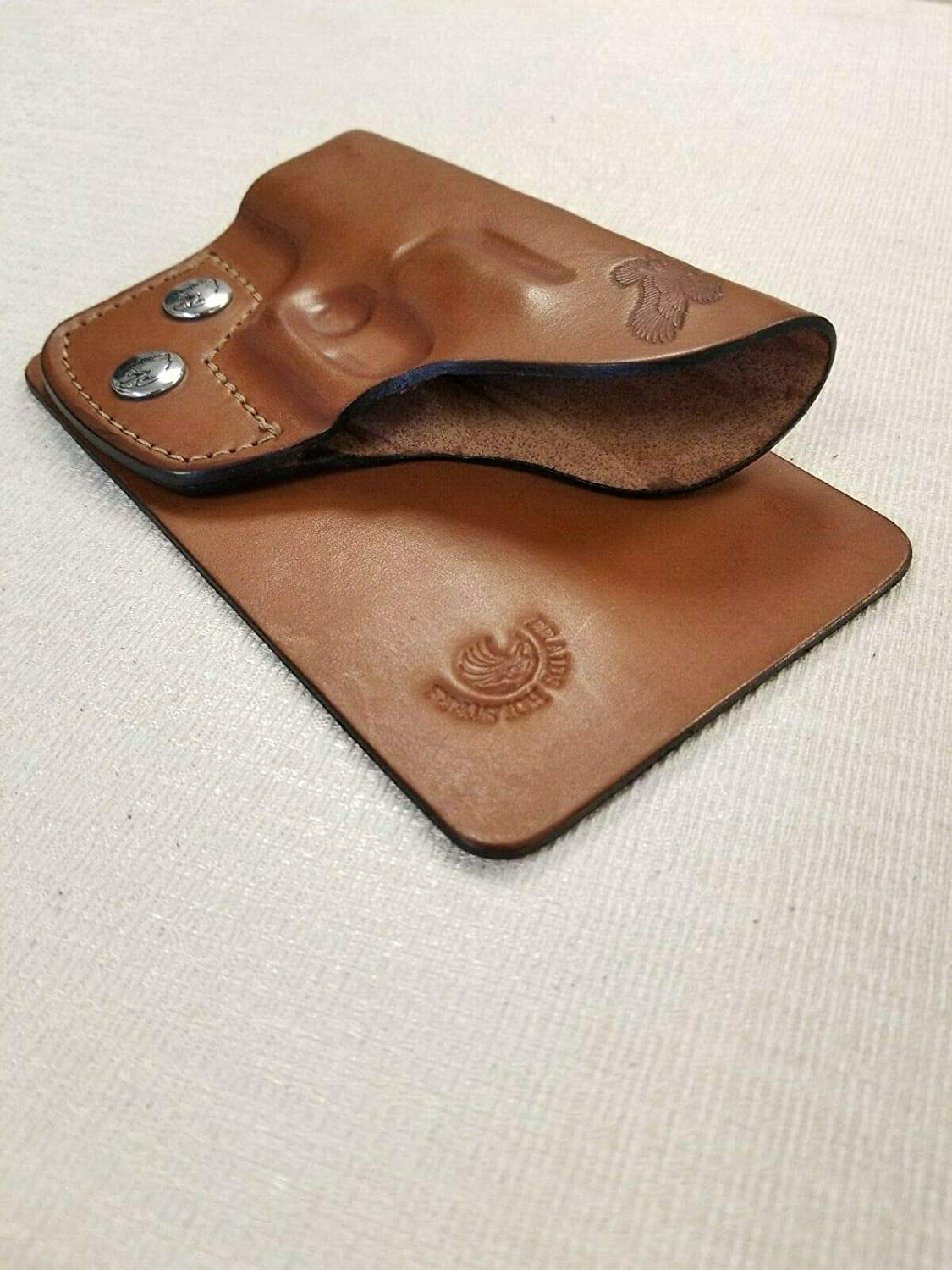 Leather Purse//Pocket HOLSTER for Glock 42 Various Browns /& Black Made in USA