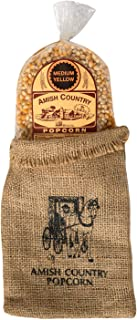 product image for Amish Country Popcorn | 2 lb Burlap Bag | Medium Yellow Popcorn Kernels | Old Fashioned with Recipe Guide (Medium Yellow - 2 lb Burlap)