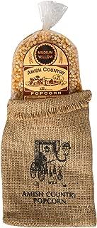 product image for Amish Country Popcorn | 2 lb Burlap Bag | Medium Yellow Popcorn Kernels | Old Fashioned with Recipe Guide (Medium Yellow - 2 lb Burlap)