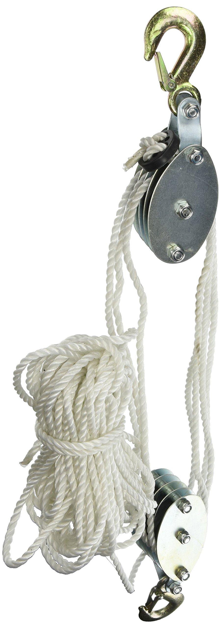 Grip 18095 2-Ton Rope Pulley Hoist
