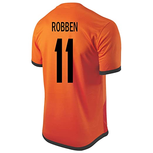 best authentic e52e7 c03c1 Amazon.com: Nike Robben #11 Holland Home Soccer Jersey ...