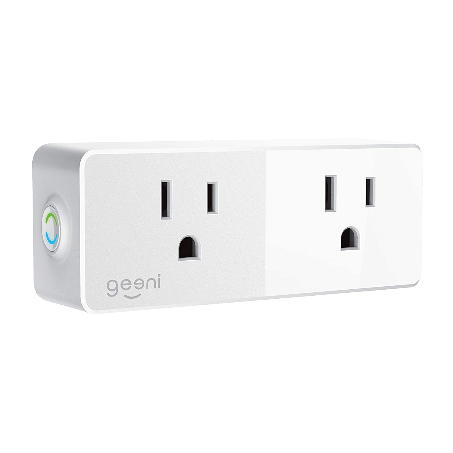 Geeni Spot Smart Wi-Fi Plug Works with  Alexa White GN-WW104-199 Google Assistant /& Microsoft Cortana No Hub Required