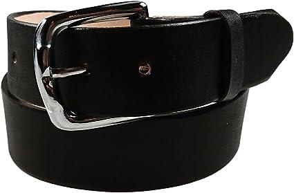 Mens Heavy Duty Black Leather Belt 1 1//2 Wide