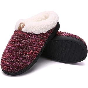 dc01006bd1579 Women s House Slippers Comfort Memory Foam Fuzzy Winter Home Shoes Slip On  Indoor Outdoor