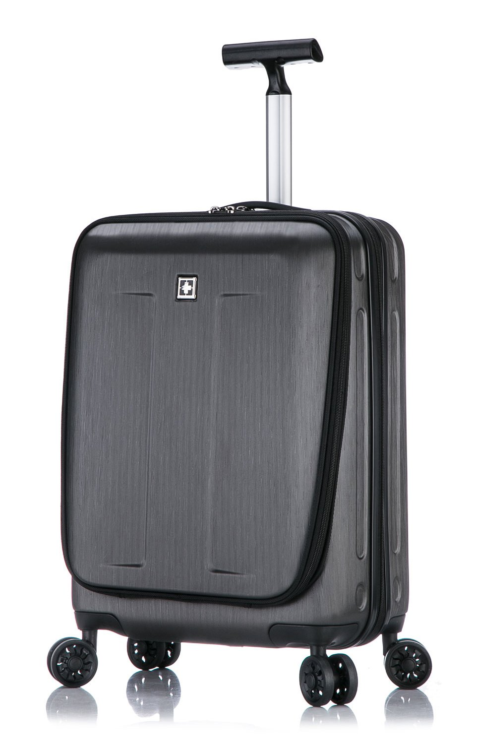 Fribourg Hardside 20'' Premium Carry On Spinner Luggage - Dark Gray