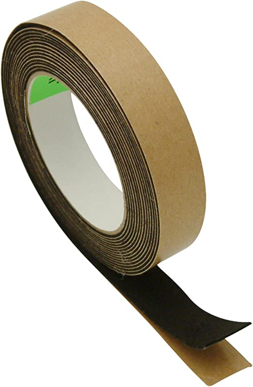 3//4 in JVCC FELT-06 Polyester Felt Tape x 15 ft. Black