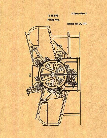 Brilliant Amazon Com Printing Press Patent Print 8 X 10 M10393 Posters Wiring Digital Resources Attrlexorcompassionincorg