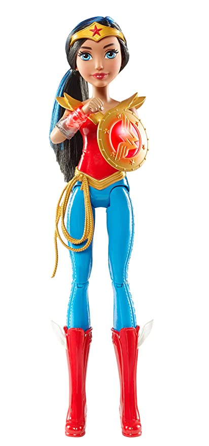 DC Super Hero Girls DC Superhero Girls- Wonder Woman Disney Muñeca, Color Rojo/Azul (Mattel DTR13)