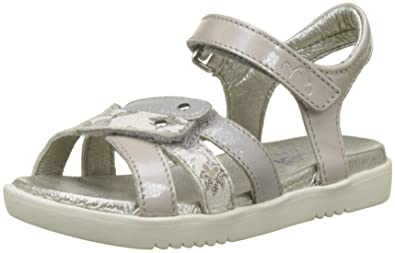 Noël Strass, Sandales Bout Ouvert Fille, Marron (Curry), 34 EU