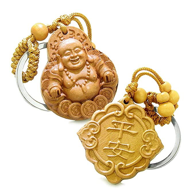 Amazon Happy Buddha And Good Luck Feng Shui Symbols Double