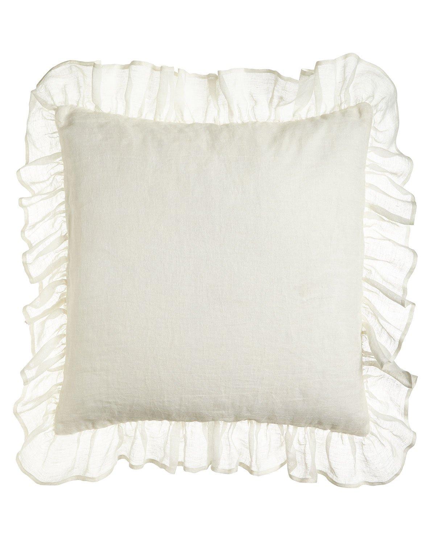 Ds White Organic Linen Gauze/sheer Lined Pillow Shams Cover (Pair) (20 x 37)