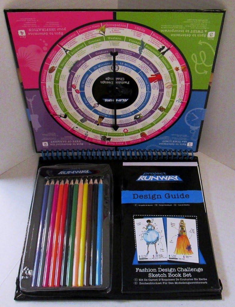 Amazon Com Project Runway Fashion Design Challenge Sketchbook Set Toys Games