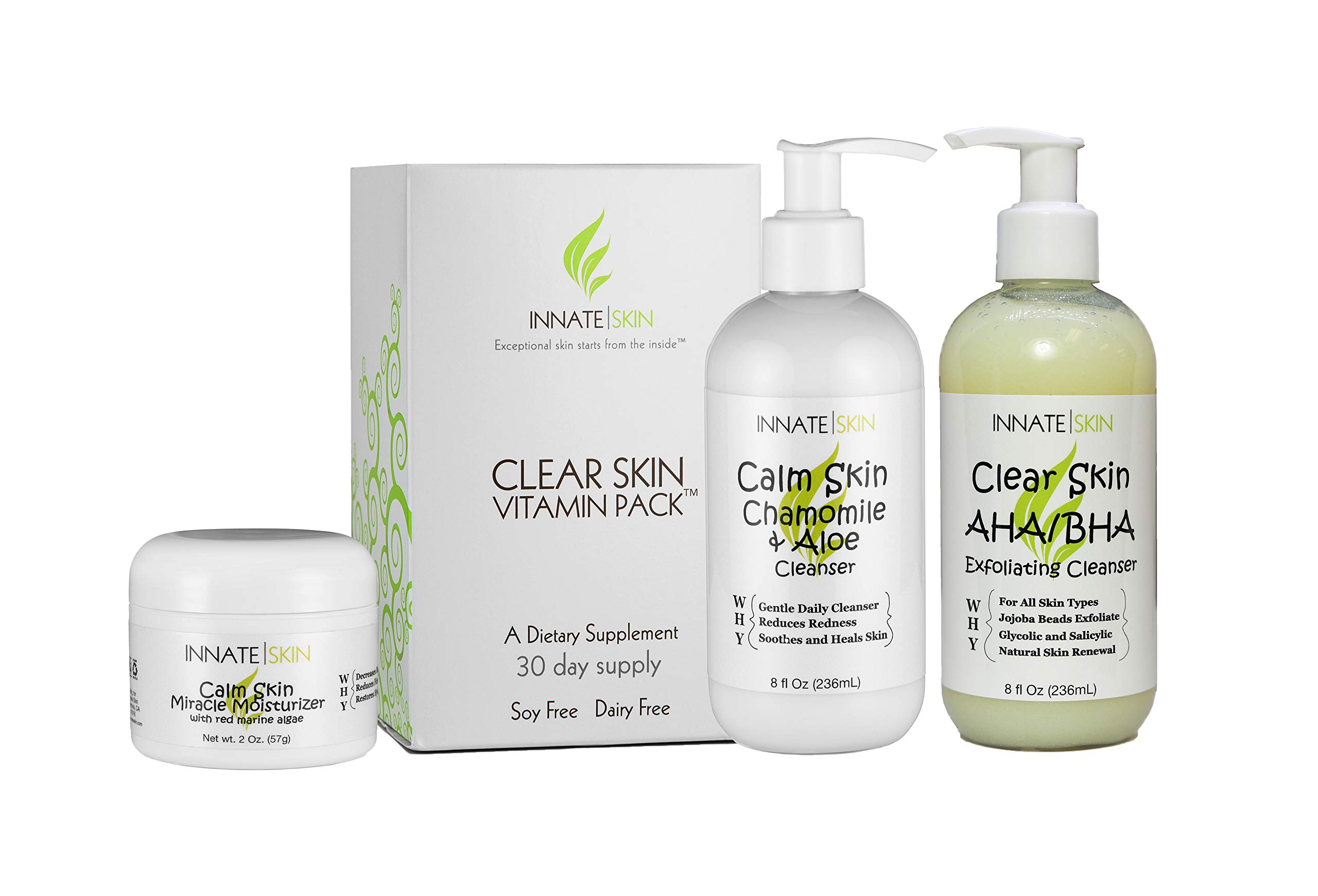 Clear Skin Advanced Vitamin Pack for Acne - 60 Day Supply of Vitamins for Acne by Innate Skin (Image #7)