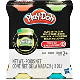 Play-Doh Glow in The Dark Modeling Compound, Red, Green, Yellow and Blue 4 Pack (8 oz Total)