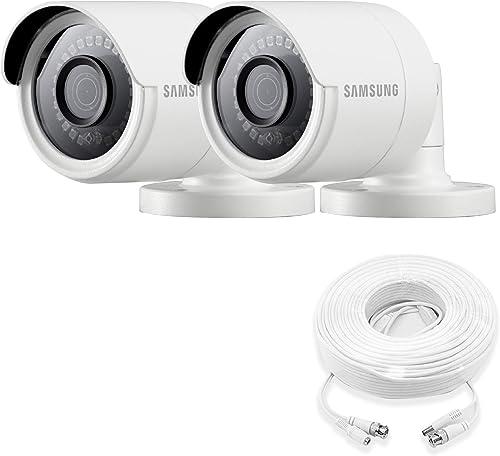 Samsung Wisenet SDC-89440BB – 4MP Weatherproof Bullet Camera – Double Pack Renewed