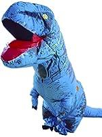 Halloween Adult Inflatable Jurassic Dinosaur T-Rex Costume Fancy Dress Cosplay Suit Blue