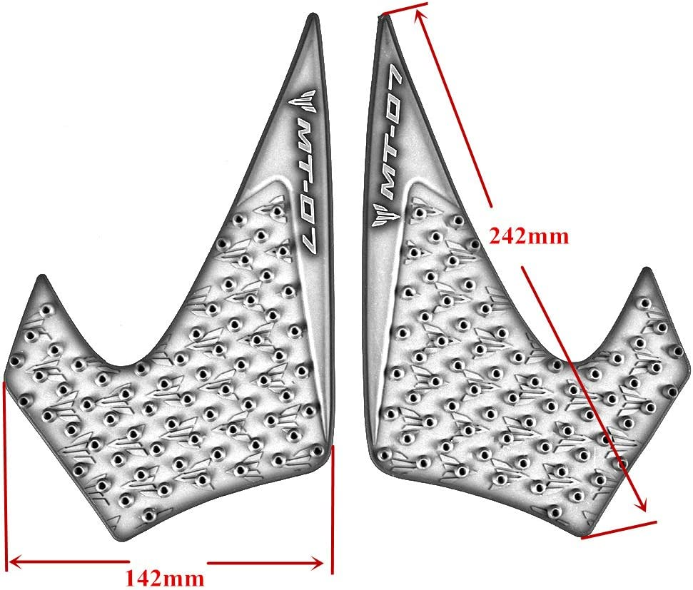 Motorcycle 3M Stickers Side Tank Traction Pad Knee Grip Protector for Yamaha MT-07 2014-2017